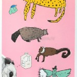 Animal milk 画伯は今年もCWAJ現代版画展に入選してます☆