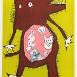 オオカミの消化について検証してみよう。wolf fall in love with little red riding hood