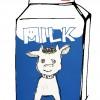 MILK みんなぁ、牛乳は好きかー!ホルスタインさんに感謝してゴクゴク飲もう。