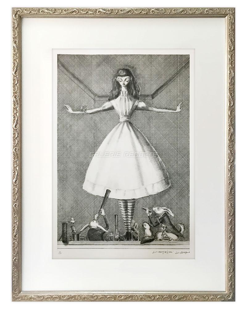 「A Great Girl」金子國義Lithography by Kuniyoshi Kaneko