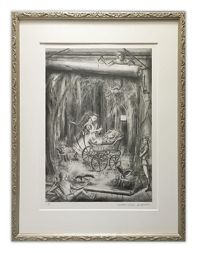 「Singing Cook」金子國義(不思議の国のアリスより)Lithography by Kuniyoshi Kaneko