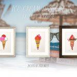 ポップアート前夜のアンディ・ウォーホル「Ice Cream Dessert」ポスター
